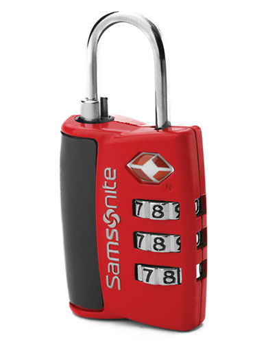 Samsonite Combination Lock-RED-One Size