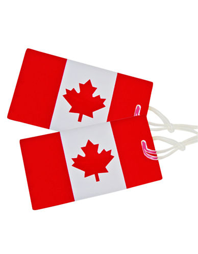 Samsonite 2 Pack Canadian Flag Luggage Tags-RED & WHITE-One Size