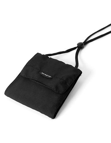 Samsonite Neck Pouch-BLACK-One Size