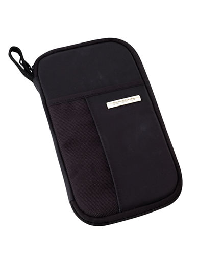 Samsonite Zip Close Travel Wallet-BLACK-One Size