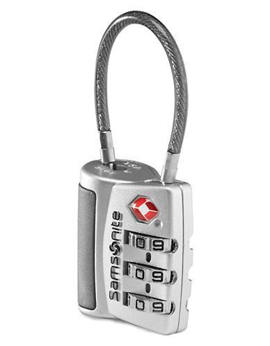Samsonite 3 Dial Tsa Cable Lock-SILVER-One Size
