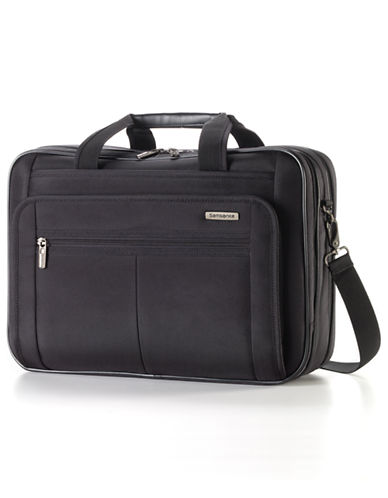 Samsonite Classic 2 - 3 Gusset Brief 15.6 Inch With RFID-BLACK-15