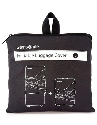 Samsonite Foldable Luggage Cover Large-BLACK-One Size