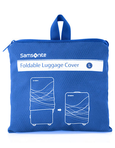 Samsonite Foldable Luggage Cover Large-BLUE-One Size