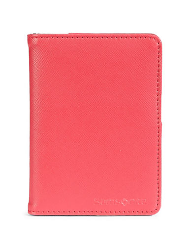 Samsonite RFID Protection Passport Cover-CORAL-One Size