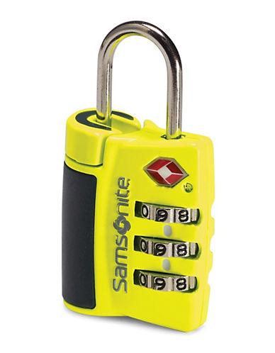 Samsonite Samsonite Three Dial Combo Travel Lock-YELLOW-One Size