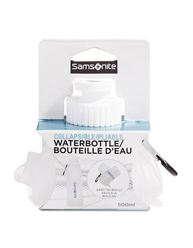 Samsonite Collapsible Silicone Water Bottle-CLEAR-One Size