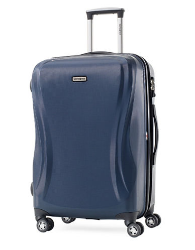 Samsonite Rhapsody 24 Inch Strong Shell Expandable Spinner Suitcase-BLUE-One Size