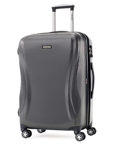 Samsonite Rhapsody 24 Inch Strong Shell Expandable Spinner Suitcase-CHARCOAL-One Size