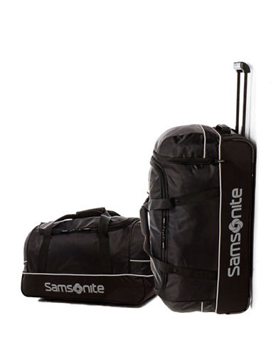 Samsonite Trailz Two-Piece Duffle Set-BLACK/GREY-2 Piece