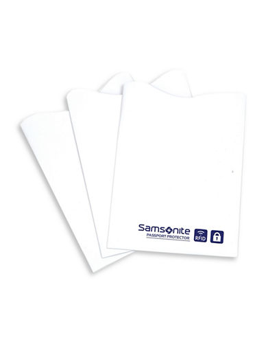 Samsonite Three-Pack Sam RFID Credit Card Sleeves-WHITE-One Size