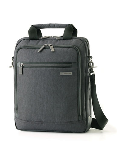 Samsonite Modern Utility Vertical Messenger Bag-CHARCOAL-One Size