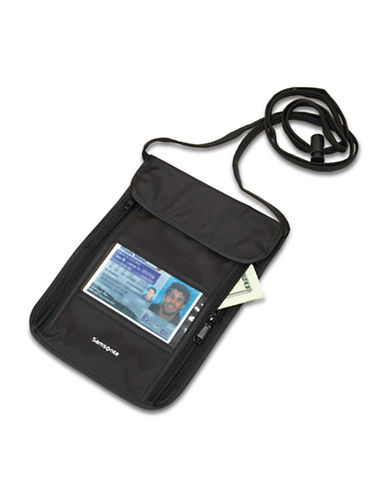 Samsonite RFID Security Neck Pouch-BLACK-One Size