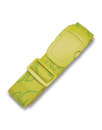 Samsonite Webbing Luggage Strap-GREEN-One Size