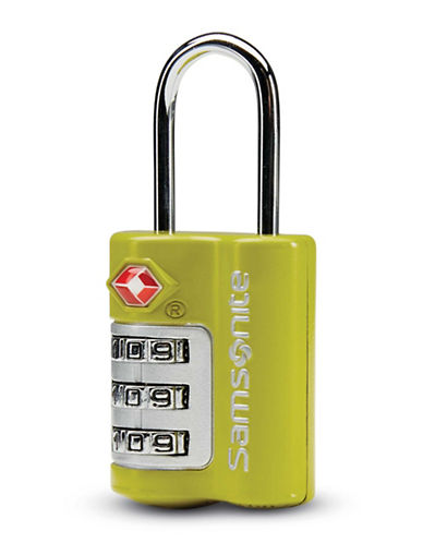 Samsonite Three-Dial Travel Sentry Combination Lock-GREEN-One Size