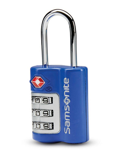 Samsonite Three-Dial Travel Sentry Combination Lock-BLUE-One Size