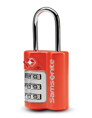 Samsonite Three-Dial Travel Sentry Combination Lock-RED-One Size