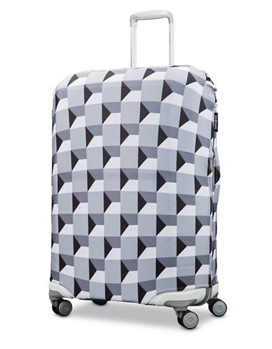 Samsonite Medium Printable Luggage Cover-GREY-One Size