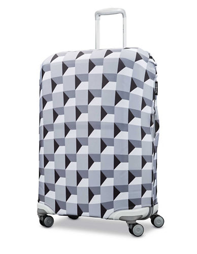 Samsonite X-Large Printable Luggage Cover-GREY-One Size