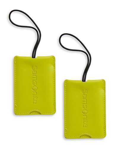Samsonite Pack of Two Luggage Tags-GREEN-One Size
