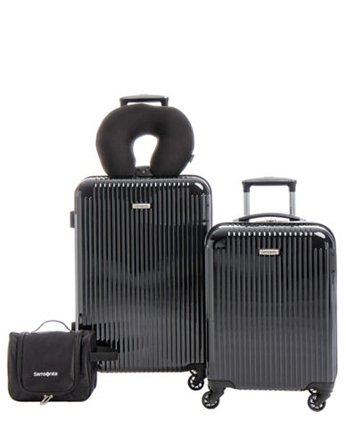 Samsonite Streamlite HS Four-Piece Luggage Set-BLACK-4pc