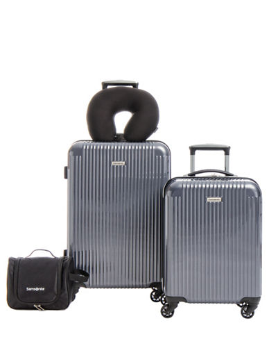 Samsonite Streamlite HS Four-Piece Luggage Set-GREY-4pc