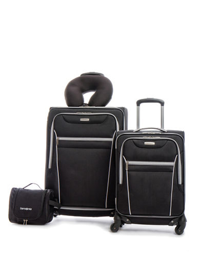 Samsonite Four-Piece Aspire SS Luggage Set-BLACK-4pc