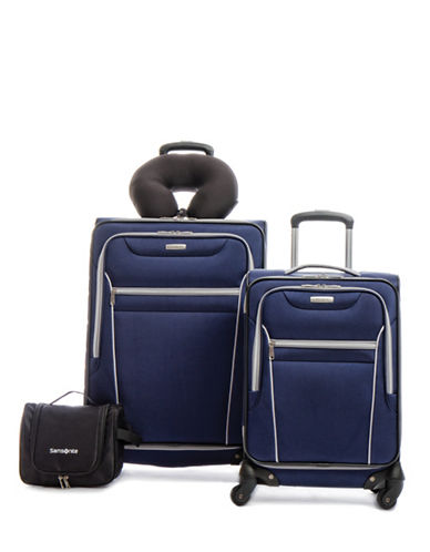 Samsonite Four-Piece Aspire SS Luggage Set-BLUE-4pc