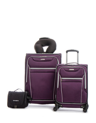 Samsonite Aspire HS Four-Wheels Spinner Suitcase-PURPLE-4pc