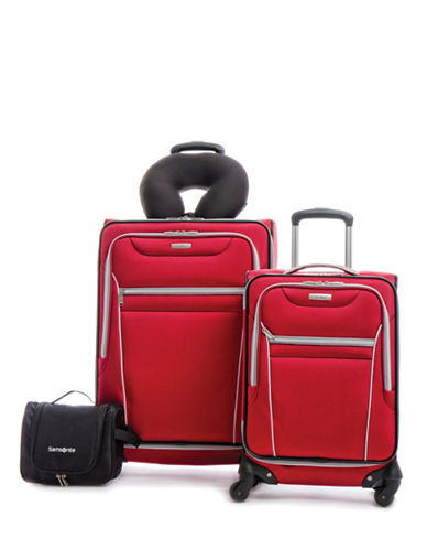 Samsonite Four-Piece Aspire SS Luggage Set-RED-4pc