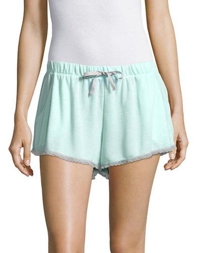 Design Lab Lord & Taylor Lace-Trim Shorts-BLEACHED AQUA-Small