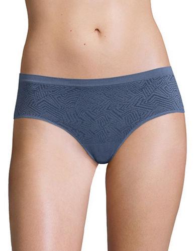 Design Lab Lord & Taylor Jacquard Seamless Hipster Panty-VINTAGE INDIGO-Large