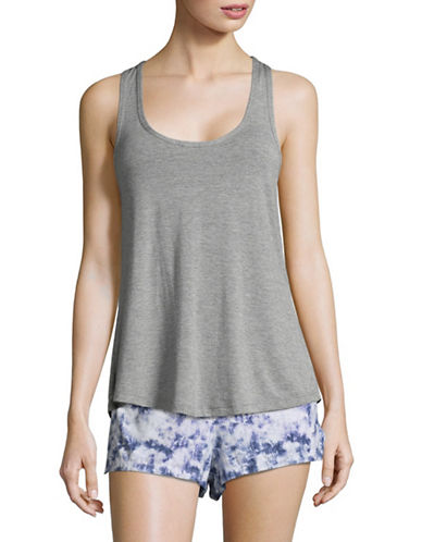 Design Lab Lord & Taylor Twist Back Tank Top-GREY-Large 89396794_GREY_Large