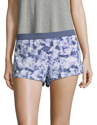 Design Lab Lord & Taylor Tie Dye Boxer Shorts-PURPLE-Large