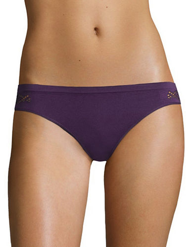 Design Lab Lord & Taylor Seamless Back Bikini Bottom-PURPLE-Medium