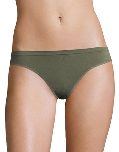 Design Lab Lord & Taylor Seamless Back Thong-GREEN-Large