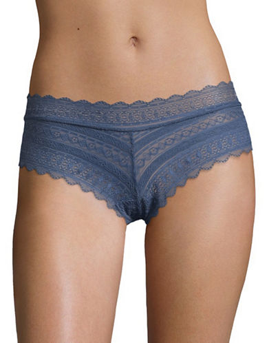 Design Lab Lord & Taylor Lace Thong-INDIGO-Large