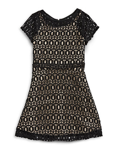 Ally B Lace Fit-and-Flare Dress-BLACK-7
