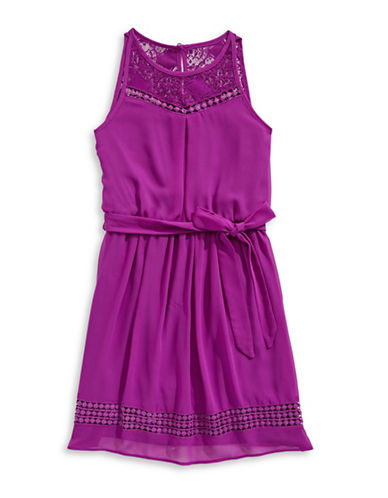 Ally B Lack-Yoke Fit-and-Flare Dress-PURPLE-10