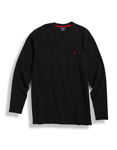 Polo Ralph Lauren Long Sleeve Thermal Top-BLACK-Medium