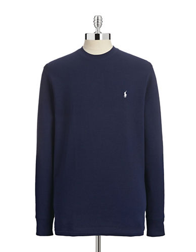Polo Ralph Lauren Long Sleeve Thermal Top-NAVY BLUE-Small
