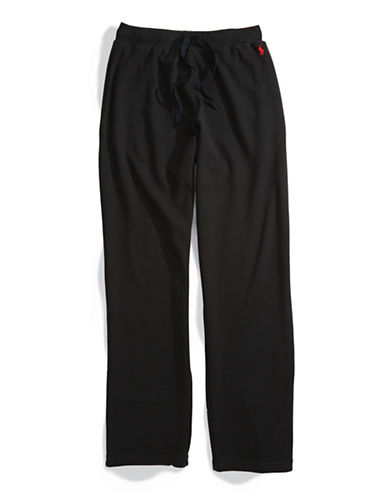 Polo Ralph Lauren Thermal Pants-BLACK-Small