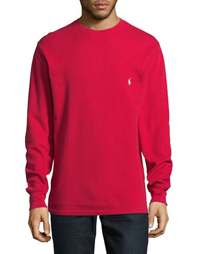 Polo Ralph Lauren Cotton Sweatshirt-RED-Small