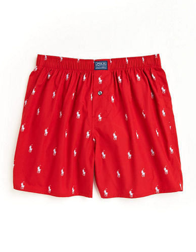 Polo Ralph Lauren Polo Print Cotton Boxers-RED-Medium