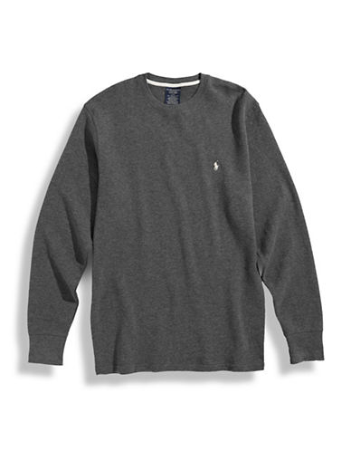 Polo Ralph Lauren Long Sleeve Thermal Top-GREY-X-Large
