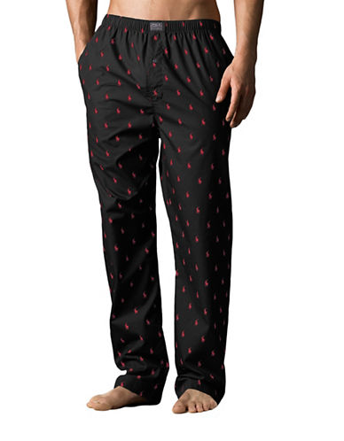 Polo Ralph Lauren Woven Sleepwear Pant-BLACK-Medium