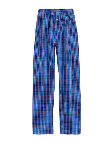 Polo Ralph Lauren Harwich Plaid Pyjama Pants-BLACK PLAID-Large