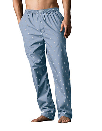 Polo Ralph Lauren Printed Woven Pyjama Pants-BLUE-Small