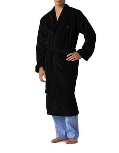 Polo Ralph Lauren Kimono Robe-BLACK-Small/Medium