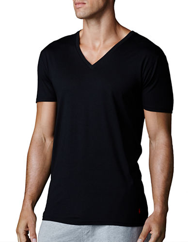 Polo Ralph Lauren Supreme Comfort Jersey V Neck 2 Pack-BLACK-Medium